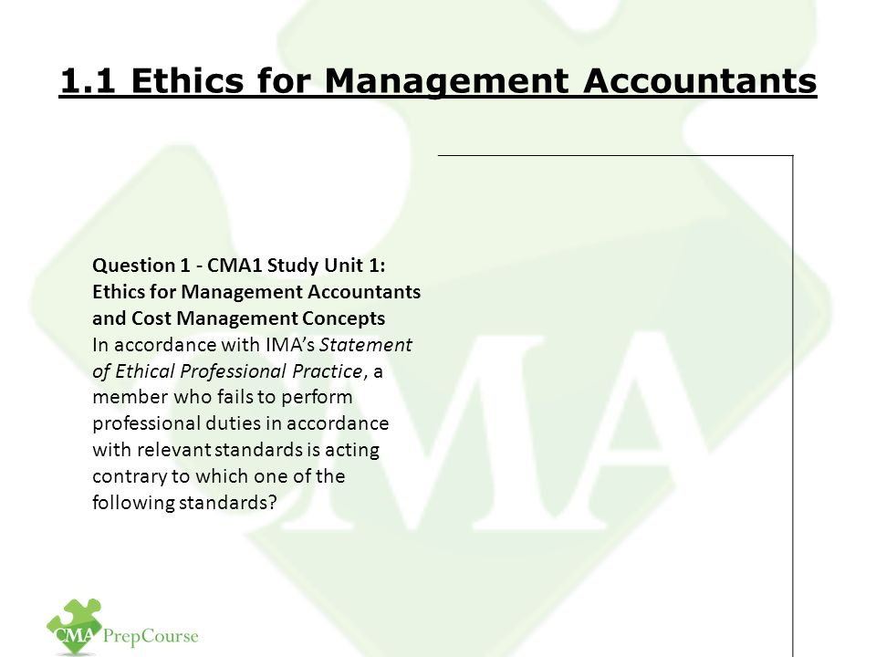 """ethical standards for management accountants essay Highlights of finance and accounting titled """"the link between management behavior and ethical philosophy in ethics standards board for accountants."""