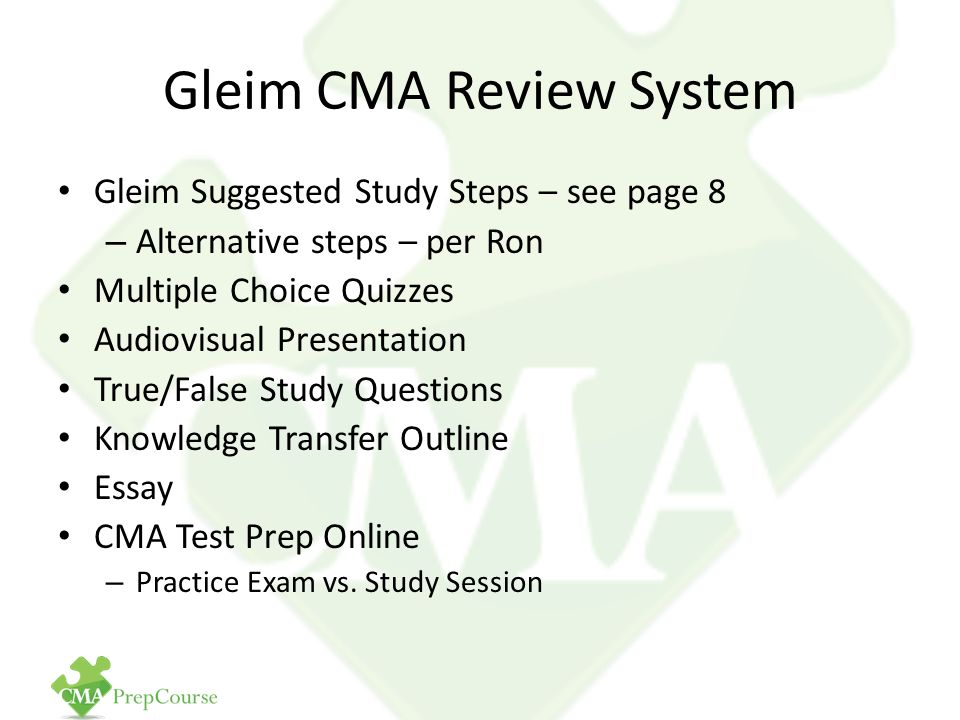 Free CMA Exam Review Pop Quiz