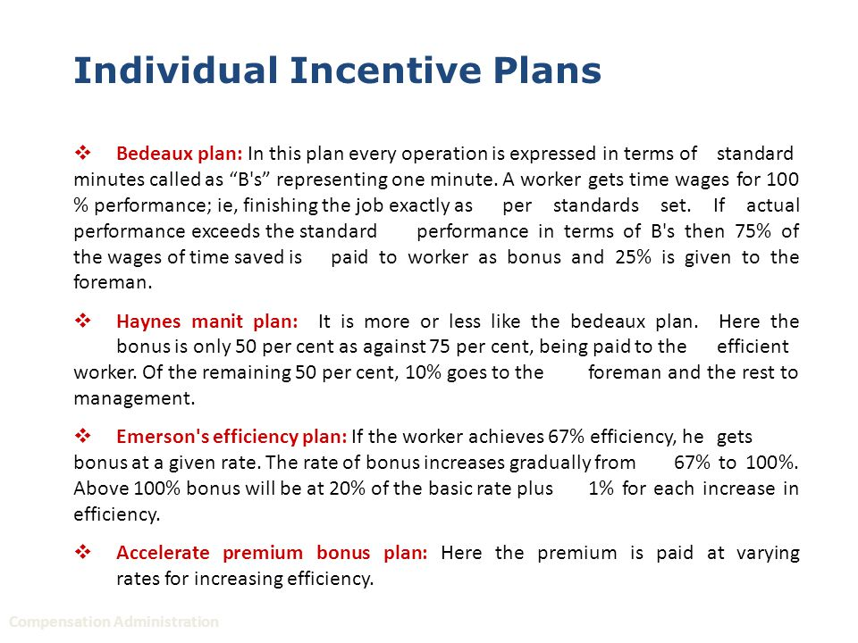 incentive plan for plant manager pdf