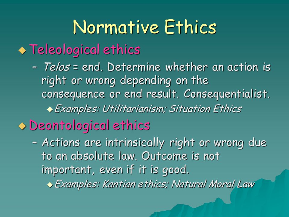 Normative ethics utilitarianism and deontology of walmart