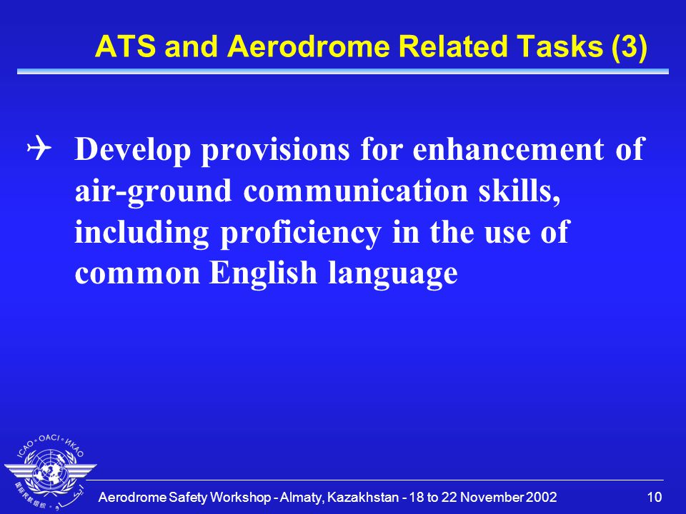 ATS and Aerodrome Related Tasks (3)