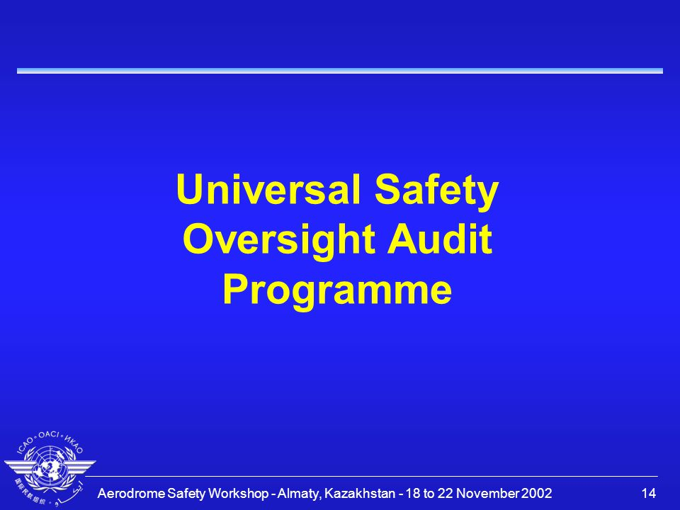 Universal Safety Oversight Audit Programme