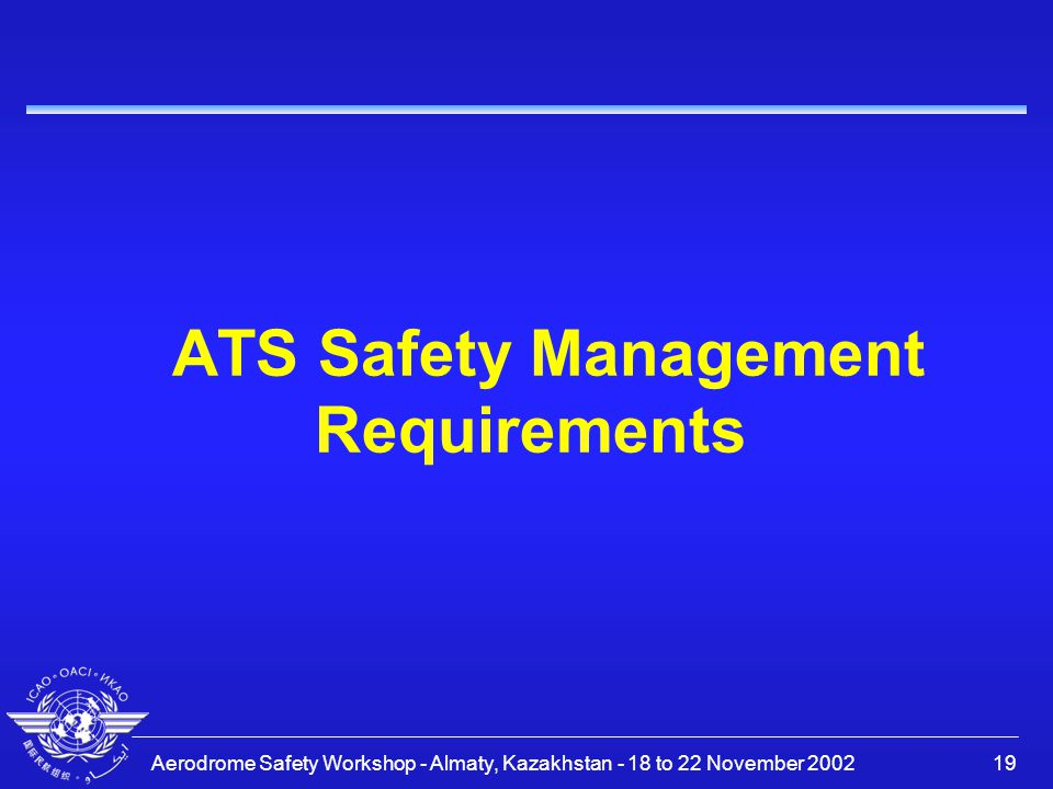 ATS Safety Management Requirements
