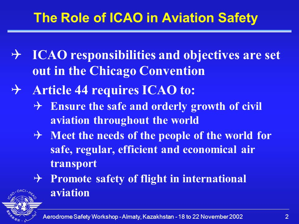 The Role of ICAO in Aviation Safety