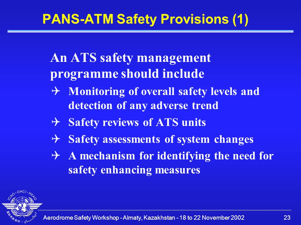 PANS-ATM Safety Provisions (1)