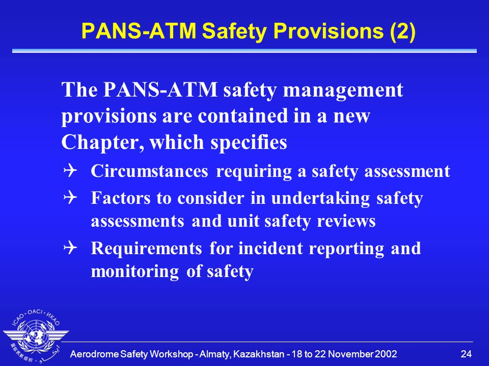 PANS-ATM Safety Provisions (2)