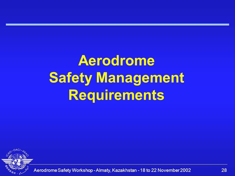 Aerodrome Safety Management Requirements