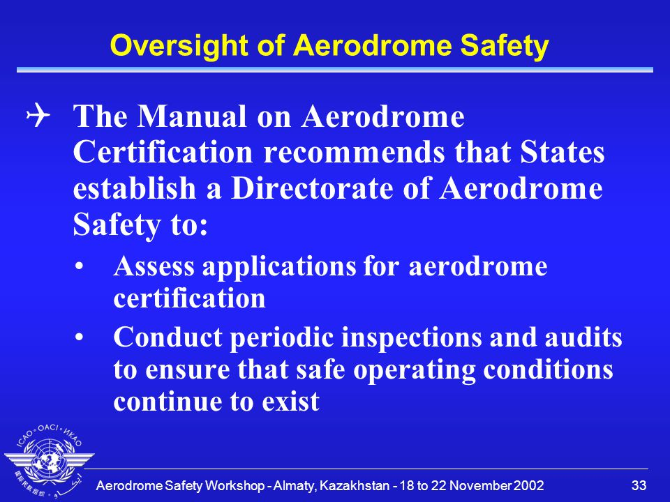 Oversight of Aerodrome Safety