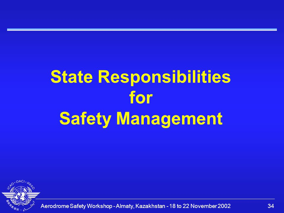 State Responsibilities for Safety Management