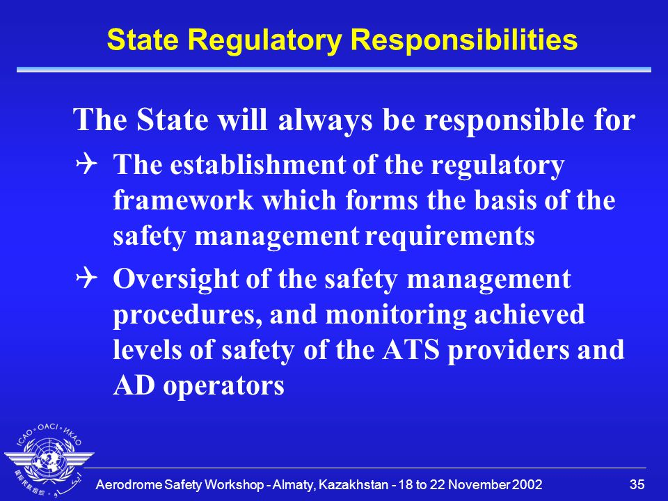 State Regulatory Responsibilities