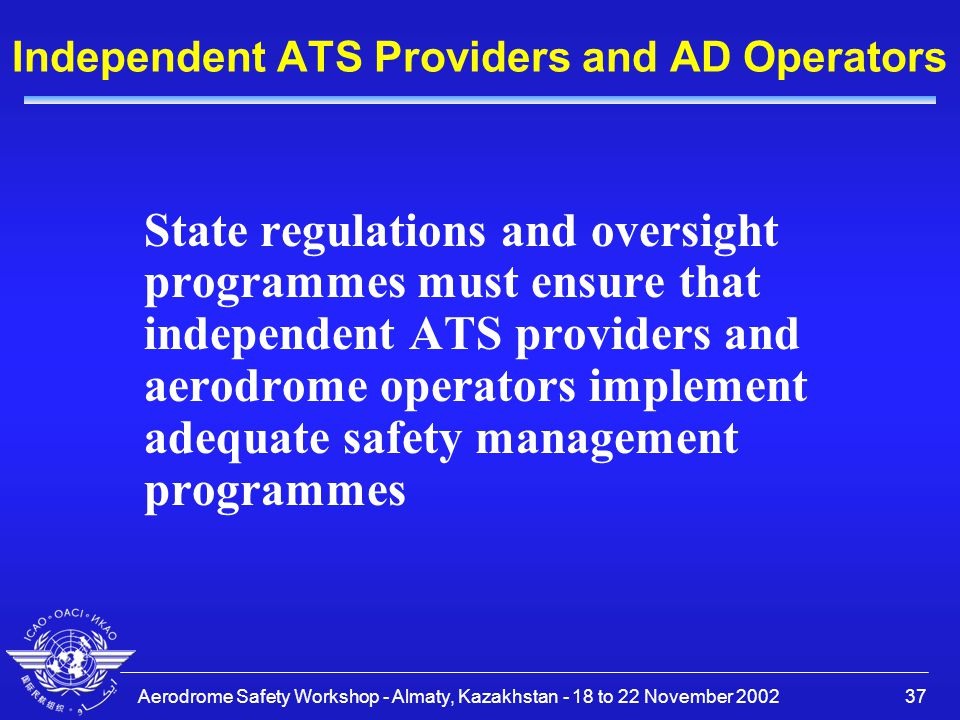 Independent ATS Providers and AD Operators