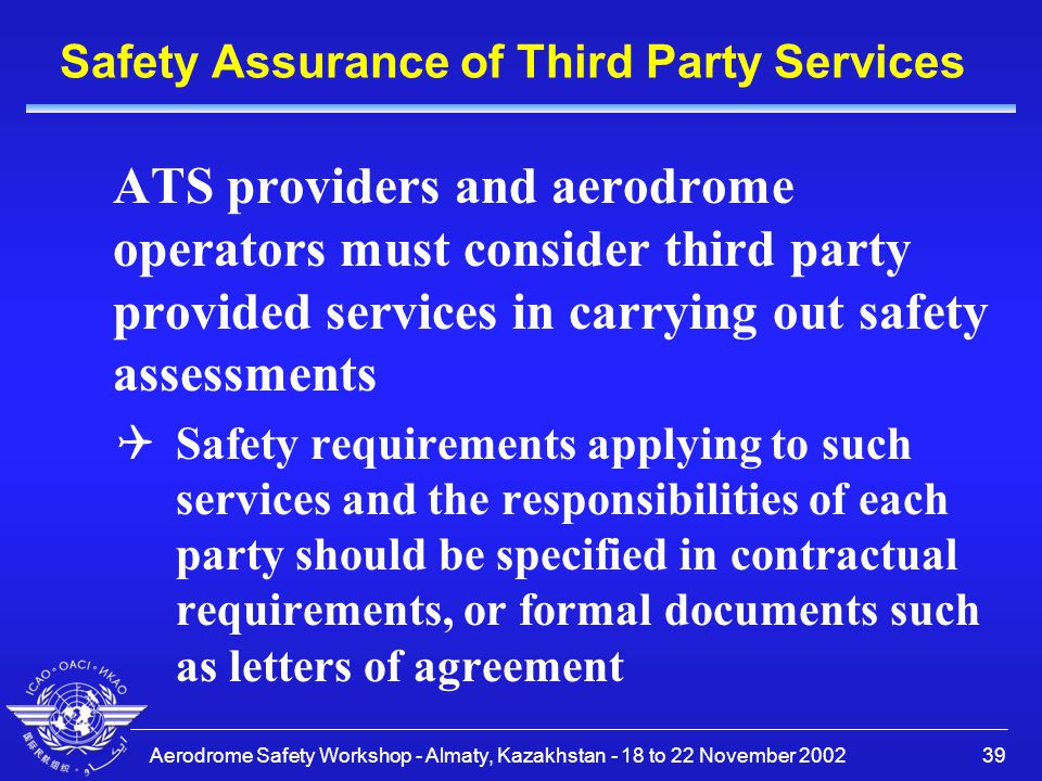 Safety Assurance of Third Party Services