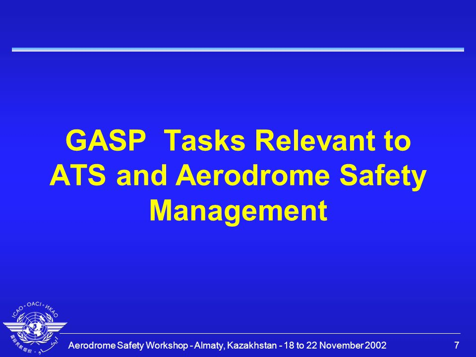 GASP Tasks Relevant to ATS and Aerodrome Safety Management