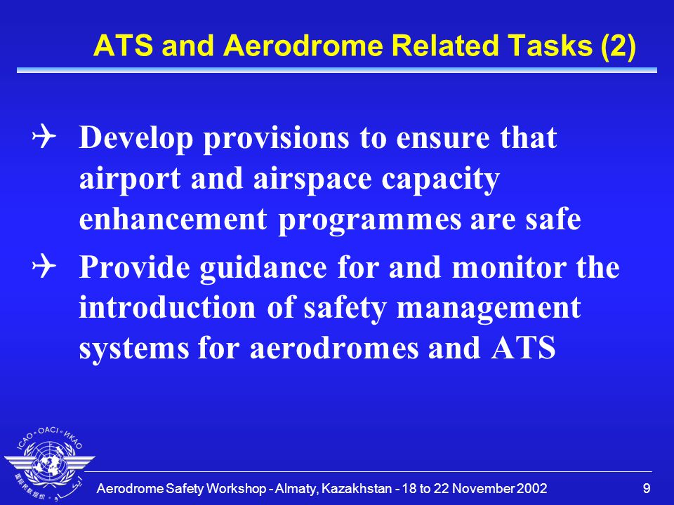 ATS and Aerodrome Related Tasks (2)