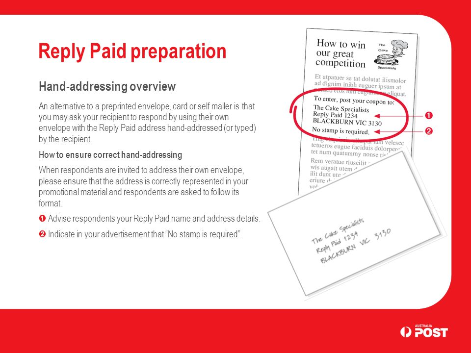 how to get reply paid envelopes
