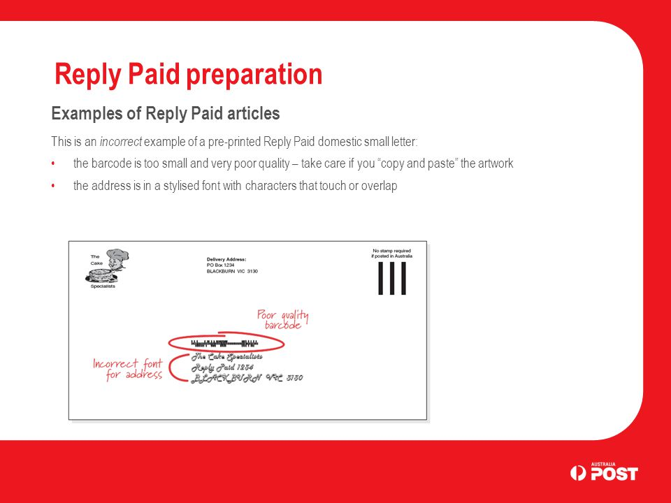 Reply Paid Preparation Ppt Download