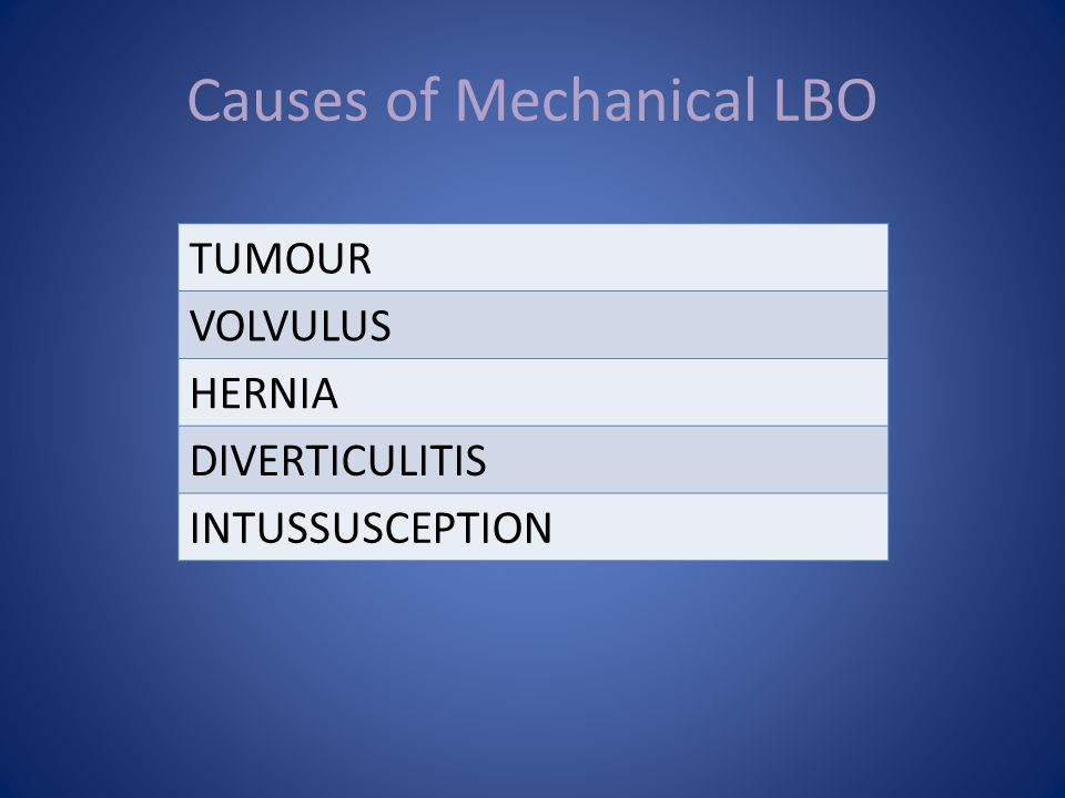 Causes of Mechanical LBO