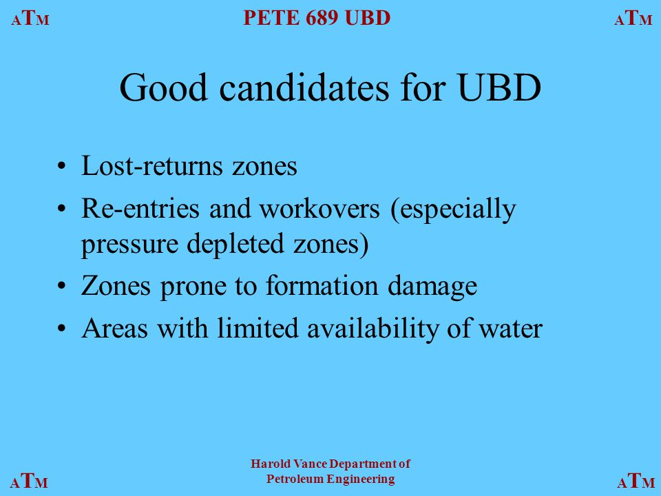 Good candidates for UBD