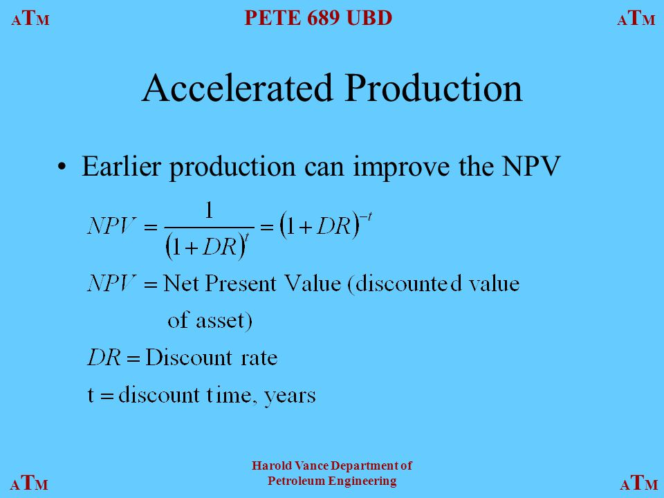 Accelerated Production