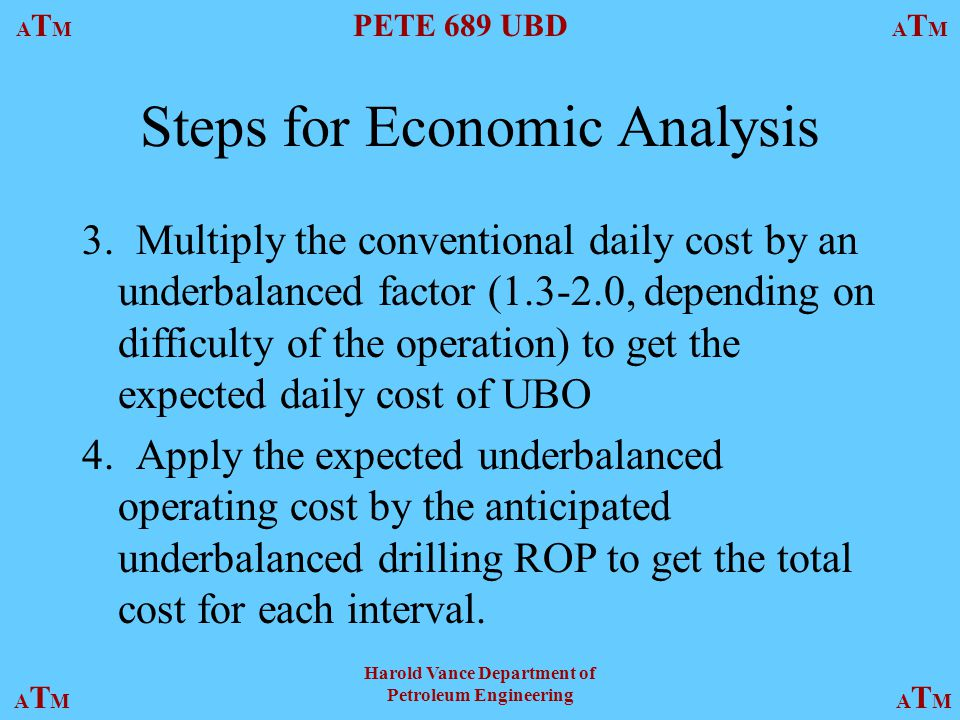 Steps for Economic Analysis