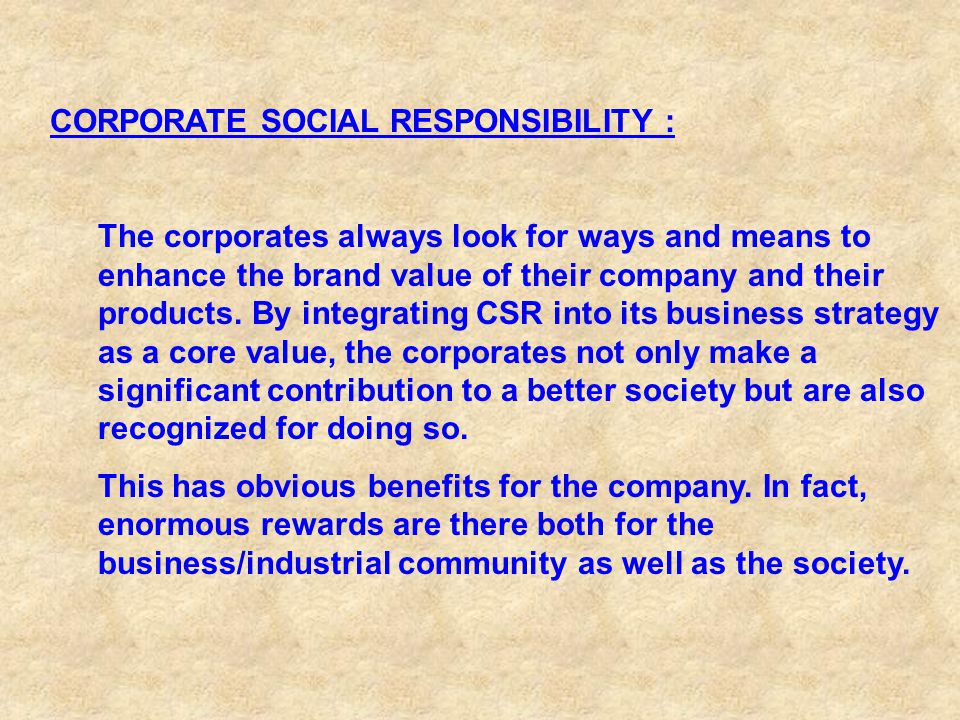 leadership and corporate social responsibility the indian way Social responsibility in india, the initiatives  the role of hr leadership has become  sharma s, sharma j and devi a - corporate social responsibility: the .
