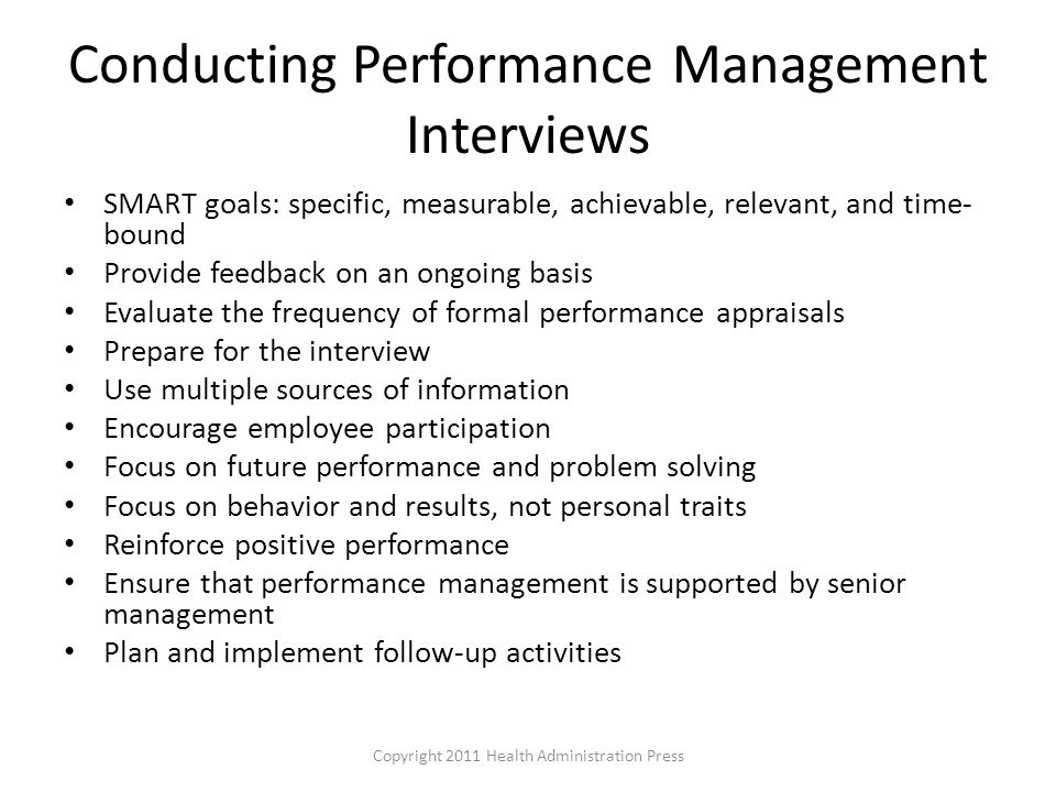 Conducting Performance Management Interviews