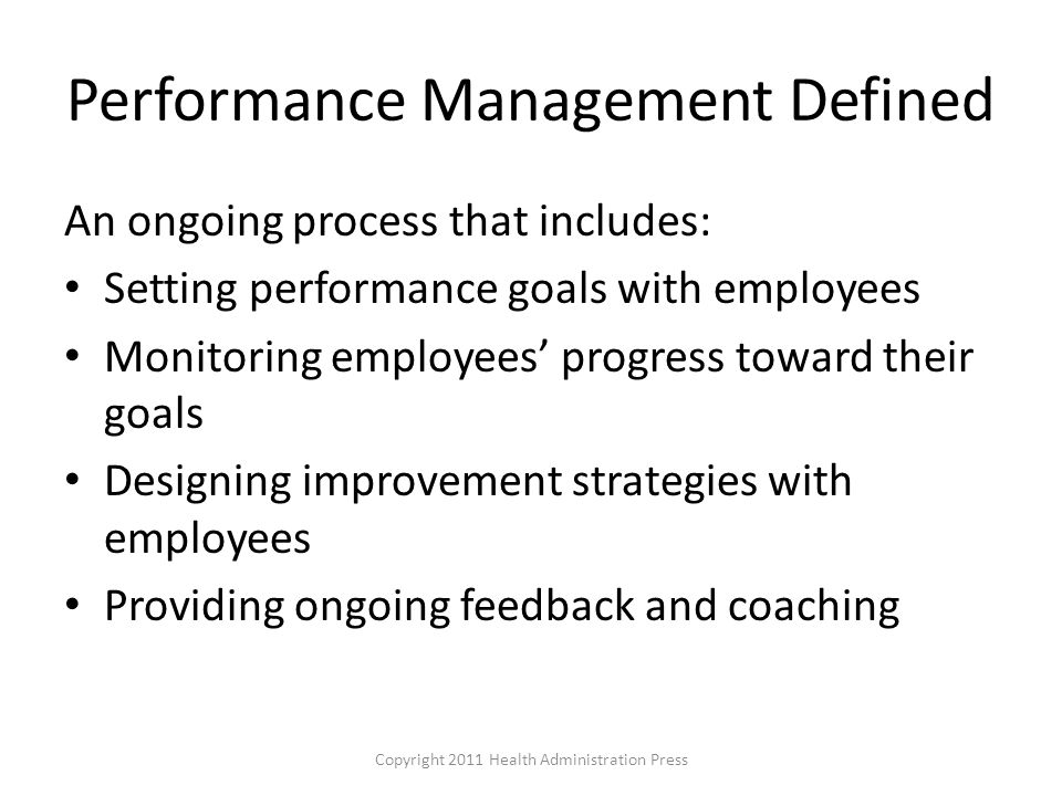 Performance Management Defined