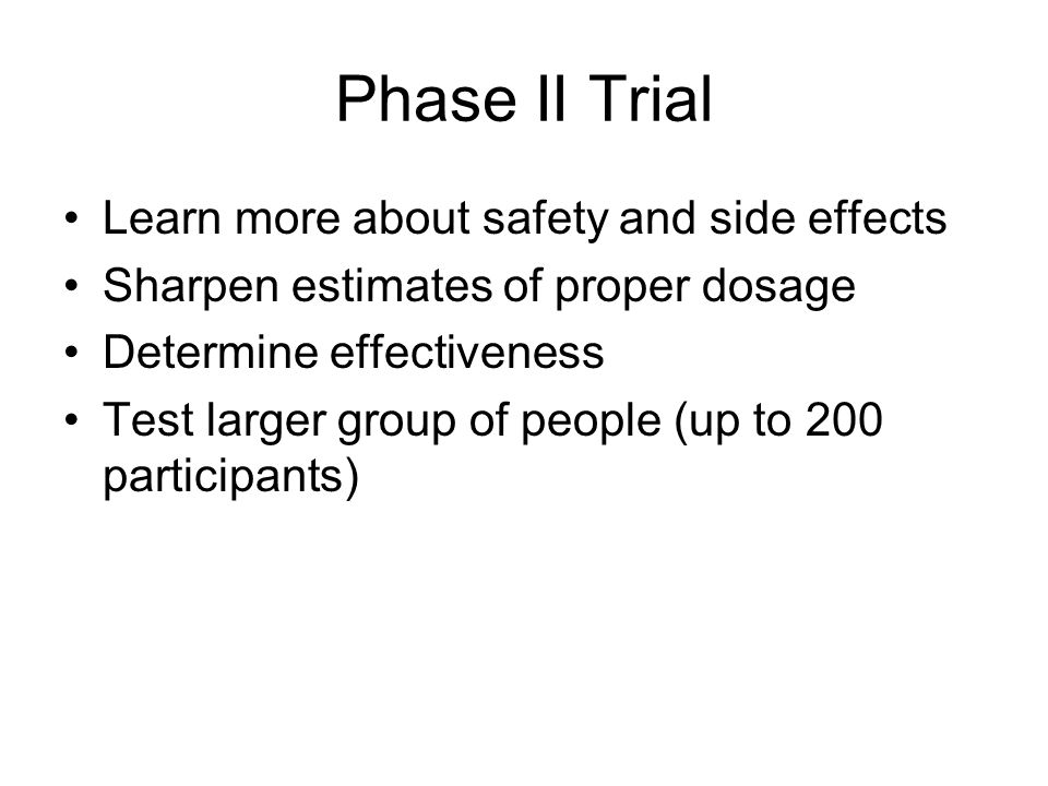 Phase II Trial Learn more about safety and side effects