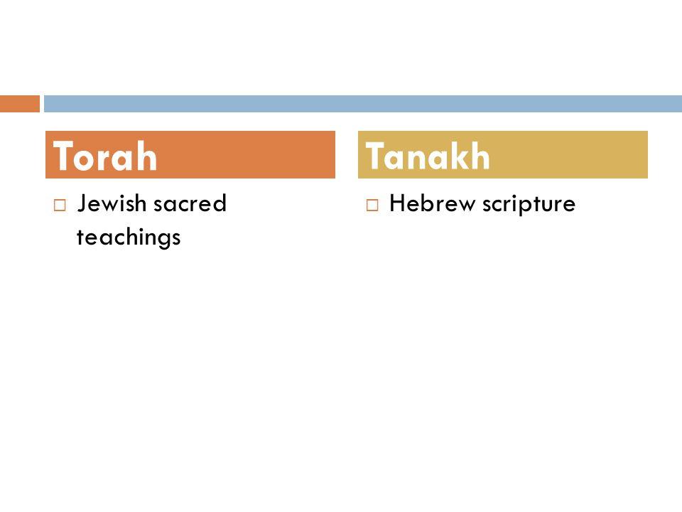 Torah Tanakh Jewish sacred teachings Hebrew scripture