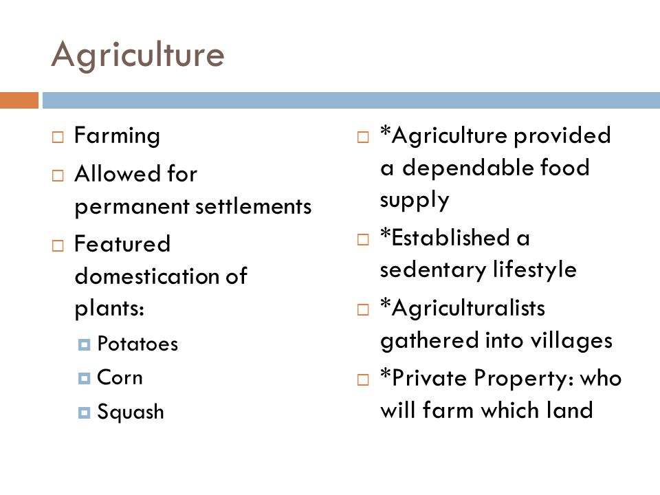 Agriculture Farming Allowed for permanent settlements