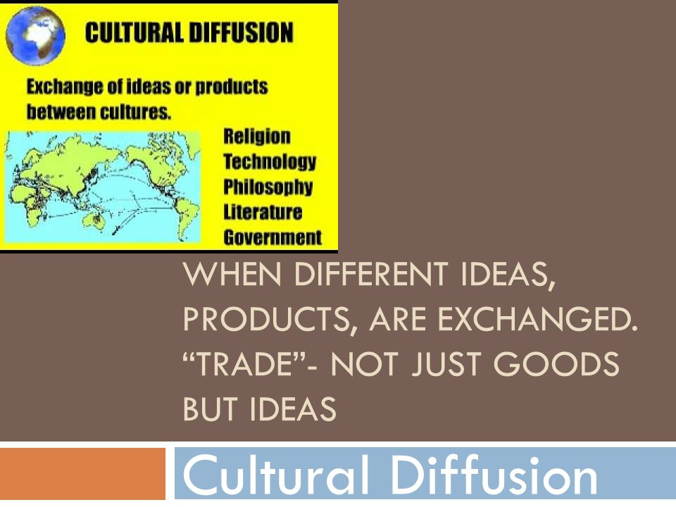 When different ideas, products, are exchanged