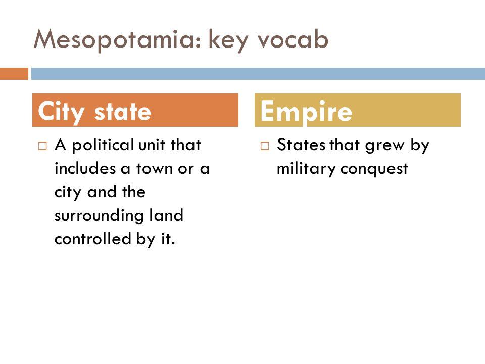 Mesopotamia: key vocab