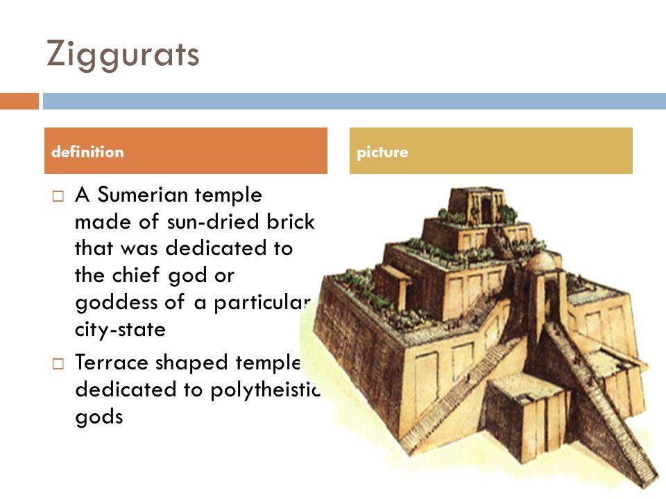 Ziggurats definition. picture.