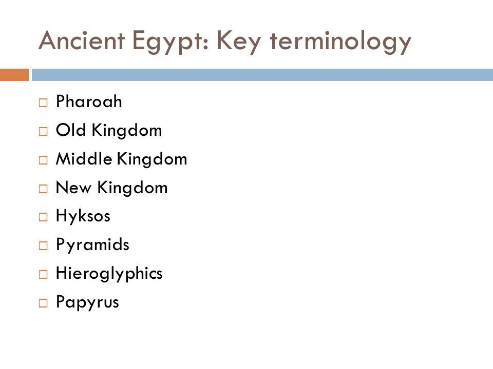 Ancient Egypt: Key terminology