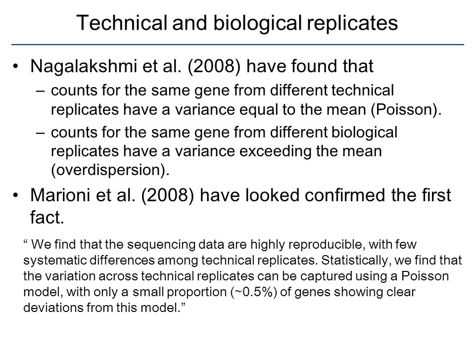 Technical and biological replicates