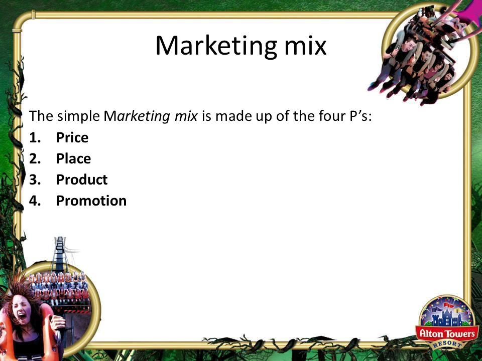 ups marketing mix The marketing mix is made up of four unique variables these four variables are interdependent and need to be planned in conjunction with one another to ensure that the action plans within all four are complimentary and aligned.