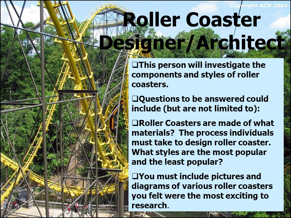 roller coaster physics research paper Getting to the core  grade 8 unit of study roller coaster physics  contents: big idea – student resource 23 lined note paper 11-12.