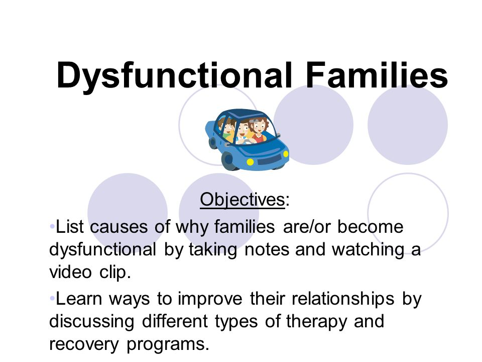 Dating someone with dysfunctional family