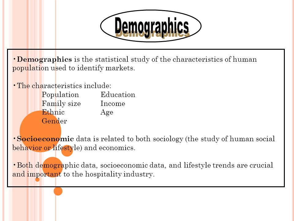 an analysis of the market identification and the characteristics of consumption To identify the factors that influence the selection of specific market segments for  use as target markets  characteristics of individuals, groups, or organizations  used to divide a market into segments  segmentation variables for consumer  markets  patterns in historical data yield information for use in trend analysis.