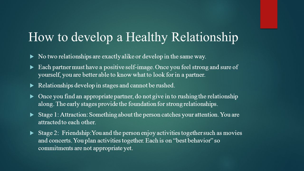 5 stages of a healthy relationship