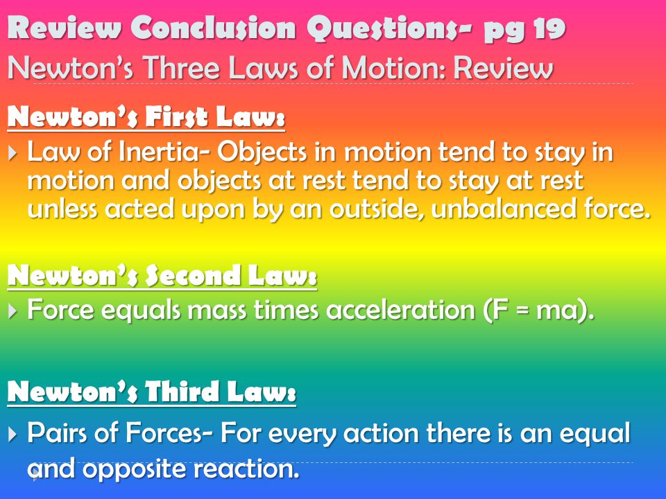 forces  u0026 motion 4 1 the student will u2026use examples to