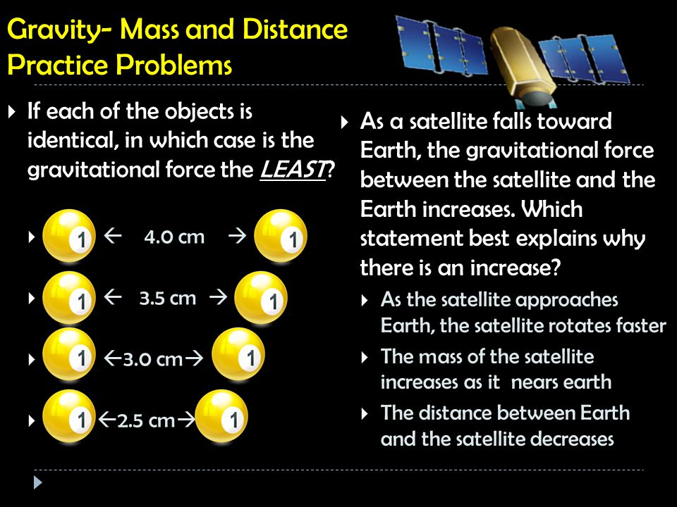 describe the relationship between mass distance and gravitational force