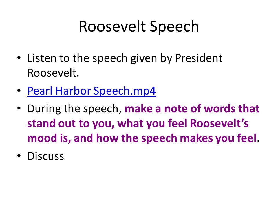 president roosevelt speech