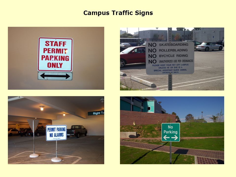 Campus Traffic Signs