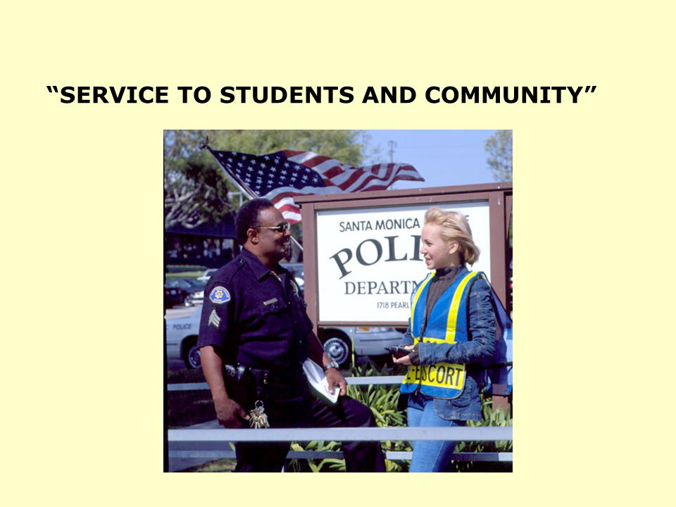 SERVICE TO STUDENTS AND COMMUNITY