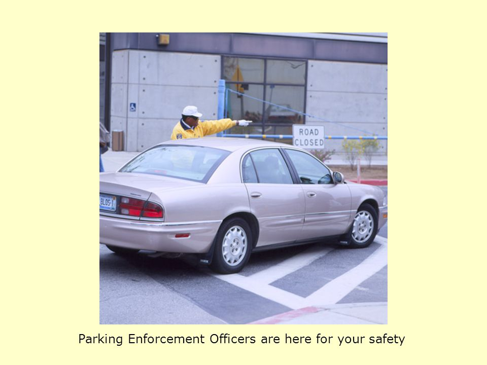 Parking Enforcement Officers are here for your safety
