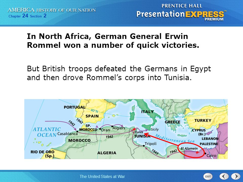 In North Africa, German General Erwin Rommel won a number of quick victories.