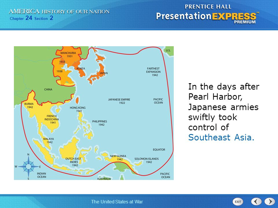 In the days after Pearl Harbor, Japanese armies swiftly took control of Southeast Asia.