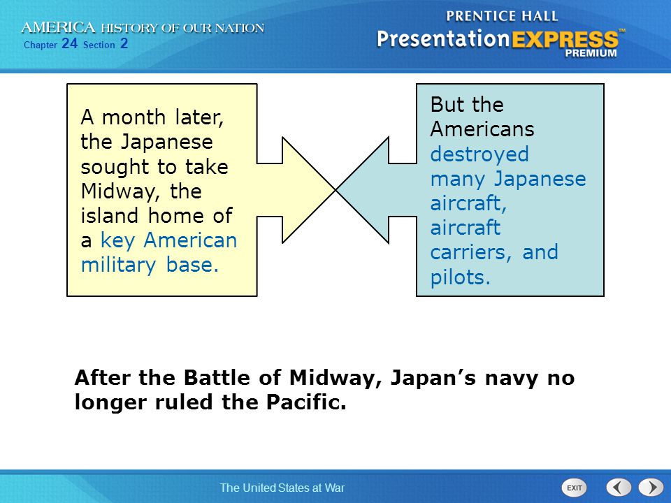 A month later, the Japanese sought to take Midway, the island home of a key American military base.