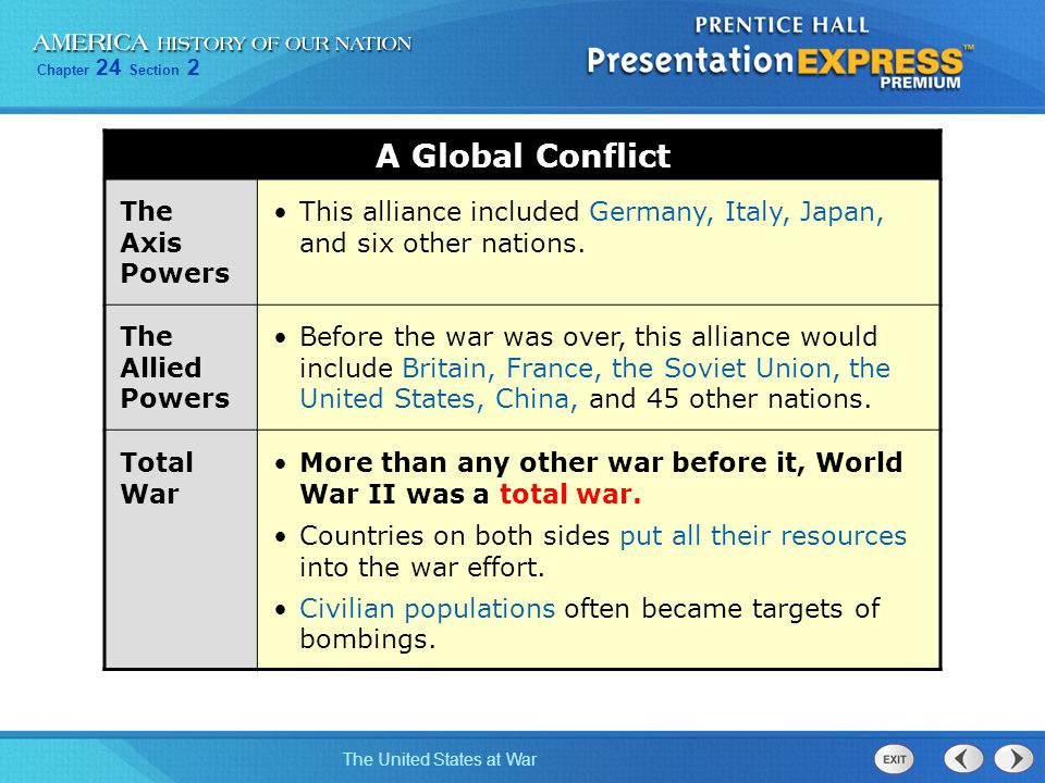 A Global Conflict The Axis Powers
